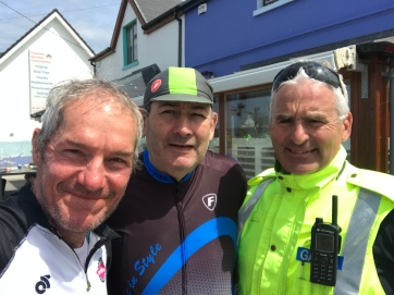 Lunch with local policeman and cycle club