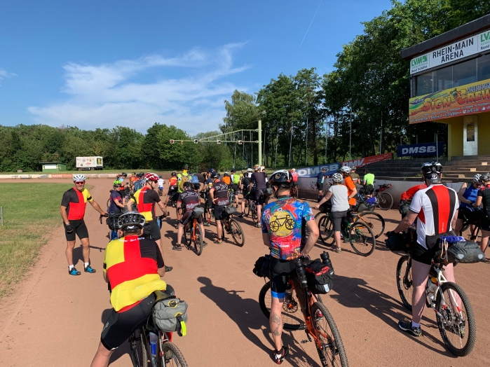 Ride start on the speedway track
